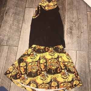 Other - C3P0 Skirt and Sleeveless Top with Hoodie